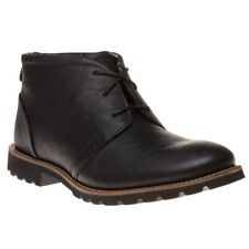 New Mens Rockport Black Charson Leather Boots Chukka Lace Up