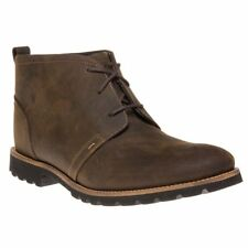New Mens Rockport Brown Charson Nubuck Boots Chukka Lace Up
