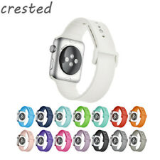 CRESTED Sport Silicone strap For Apple Watch band 42 mm 38 mm Rubber watchband