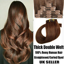 Double Weft Thick Clip in Remy Hair Extension Full Head Real Human Ombre Hair UK