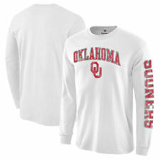 Oklahoma Sooners White Distressed Arch Over Logo Long Sleeve Hit T-Shirt