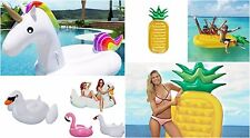 Giant Inflatable Pool Beach Toys Floats Rideable Adults Kids Summer Fun Swiming