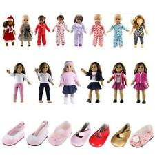 Dolls Clothes Shoes for 18inch American Girl Our Generation Doll Dress Xmas Gift