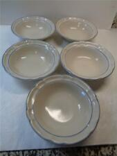 Cordella Collection BLUET Stoneware 7inch Soup Cereal Bowls lot of 5 Blue Floral