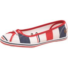 NEW  Fred Perry Womens Jet Southsea Deckchair Textile Pumps Fire Red 4 UK