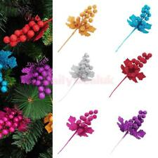 Christmas Mistletoe Xmas Fruit Ear Leaves Party Tree Holiday Decoration Ornament