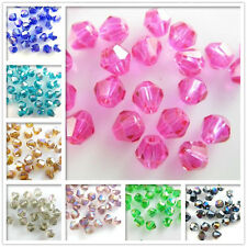 Bulk Faceted Bicone Crystal Glass Loose Bead Spacer Jewelry Findings 8mm Charms