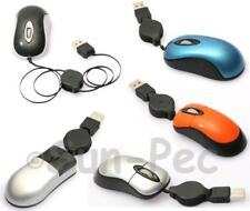 Retractable USB Mini Optical Scroll Wheel Mouse Mice for PC Laptop Notebook