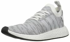 Adidas Mens Originals NMD R2 Pk Sneaker White/White/Black BY9410