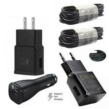Black Original OEM Samsung Galaxy S9 S8 Plus Type-C Cable Fast Car Wall Charger