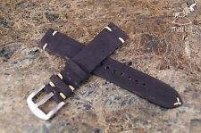 Vegan Cork Watch strap handmade Black any size available