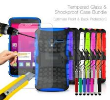 For HTC - Shockproof Hybrid Case Cover, Glass Protector & Ret Pen