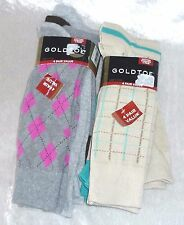 Gold toe Mens Socks 4 pair Comfort Fit Multi Shoe size 6-12.5, sock 10-13 NEW