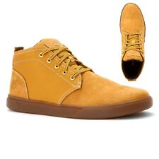 Timberland Men's Groveton Leather Lace Up Wheat YELLOW Chukka Boots Shoes A1115