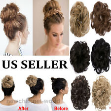 US Women Lady New Pony Tail Hair Extension Bun Hairpiece Scrunchie Natural Hair