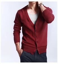 Men Spring And Autumn New Fashion V Neck Large Size Cardigan Sweater R368