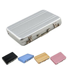 Men Women Business ID Credit Card Holder Mini Suitcase Bank Card Holder Box Case