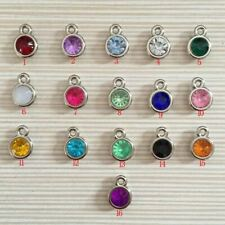 12pcs/lot mixed Birthstone charms 11mm Acrylic