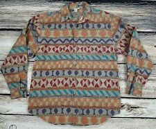 Territory Ahead Mens Shirt Large Aztec Southwestern Long Sleeve Button Front