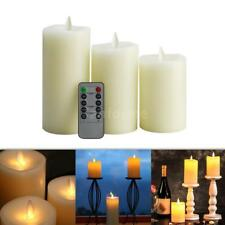 Electric Flameless LED Candle Light Timer Atmosphere Lamp & Remote Control Z9U9