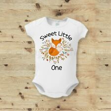 Sweet Little One Fox Baby Outfit - Boho Fox Baby Outfit - Cute Fox Baby Top