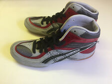 New! Mens Asics Red Split Second  Wrestling Shoes Sneakers Rare Item