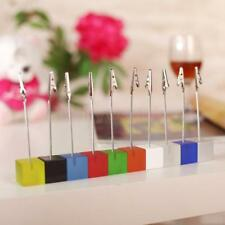Wedding Banquet Table Cube Base Wire Memo Holder Photo Picture Card Note Clip
