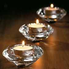 Votive Tealight Stick Candle Holder Crystal Glass Party Decor Wedding