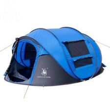 4 Person Tent Single Layer Waterproof Family Camping Hiking Instant Pop Up Tent