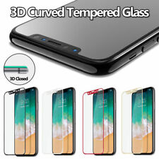 3D Hard Tempered Glass Screen Protector Guard For Apple iPhone X USA STOCK