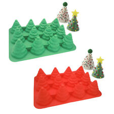 Christmas Trees Silicone Cake Decorating Mould Candy Soap Chocolate Baking Mold
