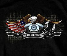 MIA POW T-shirt You Are Never Forgotten All Gave Some, Some Gave ALL Black New