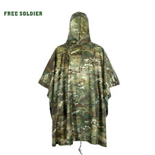 Camo Raincoat Waterproof Mat Adult Poncho Hooded  Adult Outdoor Camouflage Cape