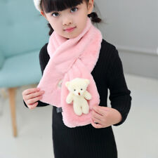 Plush Scarf Cute Bear Kids Winter Warm SOFT Shawl Gift Christmas