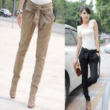 Women Fashion Harem Skinny Long Trousers OL Casual Slim Bow Pants Chic Suit A823