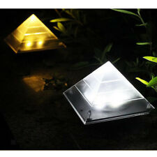 Solar Power LED Ground Recessed Lights Garden Outdoor Deck Path 2 Colors