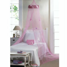 Bed Canopy Blue/Pink Butterfly, Pink Princess Crown / Butterfly Ornaments