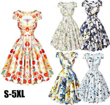 Celebrity Flower Vintage Retro Swing 1950's ROCKABILLY pinup Prom Party Dress