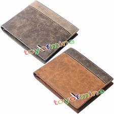 New Men's Leather Bifold Wallet ID Credit Card Holder Clutch Pockets Purse