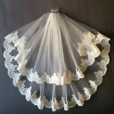 Elbow Veil 2 Tiers Wedding Veils White Ivory Bridal Veil With Comb