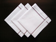 12 pieces / 6 pieces 38cm x 38cm classic white pattern 100% cotton handkerchiefs