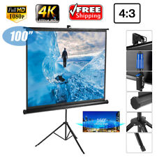 100'' FHD 1080P DTV Manual/Tripod /Electric Motorized 16:9 Home Projector Screen