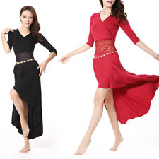 New Cheap Lace Stitching Hollow Out Belly Dance Costume Long Dress
