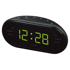 "AM/FM Digital Clock Radio with 1.2"" LED Display Plug Charging Dual Alarm"