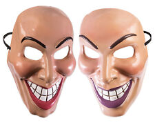 Evil Grin Mask Woman or Man Cartoon Creepy Smile Fancy Dress Accessory