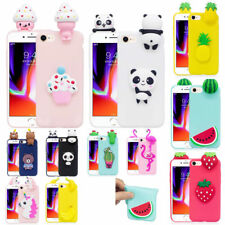 Cute 3D Cartoon Shockproof Soft Gel Silicon Case Cover for iPhone X/8/7 Plus