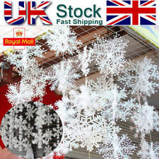 Christmas Tree White Snowflake Charms Festival Party Home Decoration Ornaments