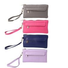 Women Zipper Purse Lady Wrist Bags Phone Coin Case Messenger Wallet Card Holder