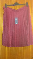 M&S Collection women's Skirt Fully Lined Knee Smart Burgundy Size UK 12 & 14
