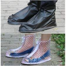 Reusable Rain Shoe Covers Waterproof Overshoes Boots Protector Gear Anti-Slip ZH